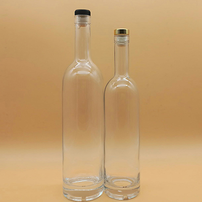 500ml 750ml Clear Cylinder Glass Bottles