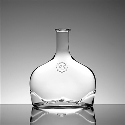 750ml Unique Liquor Decanter Glass Bottle For Sale