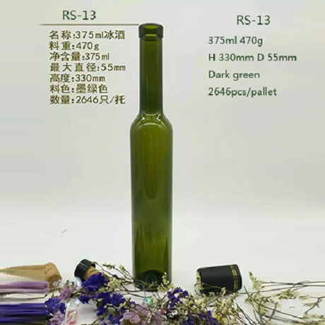 375ml Green Glass Bottles Wholesale With Corks