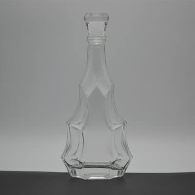 Fancy design 500ml diamond glass bottles