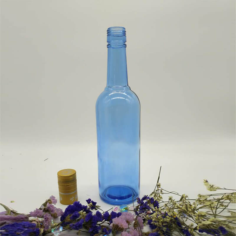 Custom Vodka Blue Bottle From Liquor Bottle Manufacturer