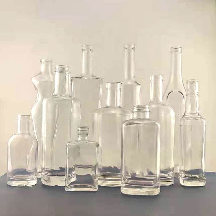 1000ml/750ml/700ml/375ml Glass Liquor Bottle Wholesale
