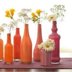 glass bottle recycling idea-flower vase