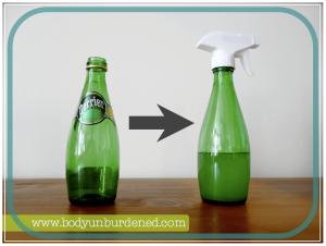glass bottle recycling idea-spray bottle