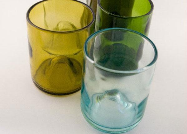 glass bottle recycling idea-water glass